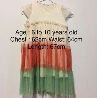 BN Girls Dress For 6 To 8 Years Old