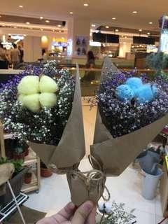 Cotton mini bouquet