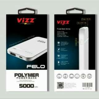 POWER BANK Vizz Felo 5000mah - Garansi setahun