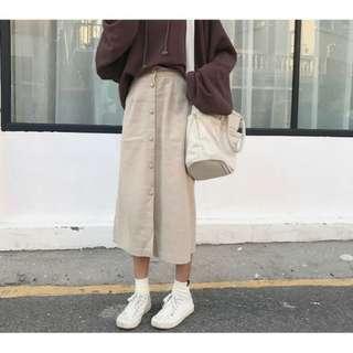 🚚 單排釦長裙