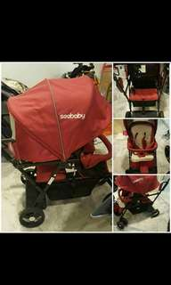 twin see baby stroller