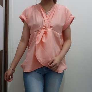 Pink kimono blouse
