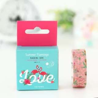 Washi Tape Flamingo In Love 7M