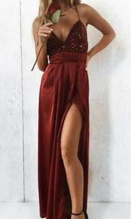 RENT| wine red formal dress