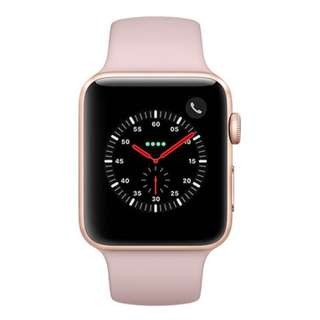 Apple Watch Series 3 38mm Alu With Pink Sand Sport Band MQKW2