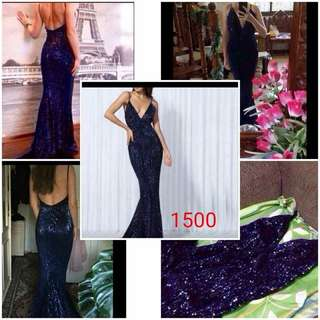 Blue Violet Long Gown (Gown for Rent)