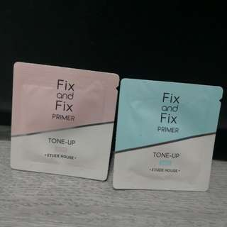 ETUDE HOUSE Fix and Fix primer, Rose and Mint