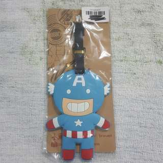 Replica Brand New Sealed Marvel Captain America Rubber Luggage Bag Tag