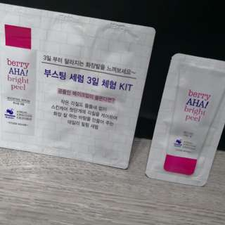 ETUDE HOUSE boosting serum and AHA mild peel