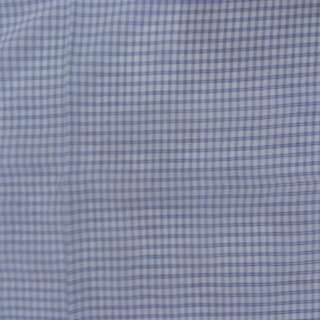 Blue checked polyester fabric