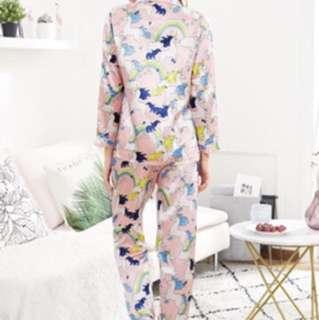 Pre-order allover Unicorn Print Shirt & Pants PJ Set
