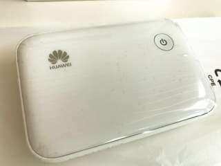 Rare White Rechargeable Huawei E5730 / 3G 4G / Mobile Hotspot / Wifi / Ethernet Cable / still with protection flim