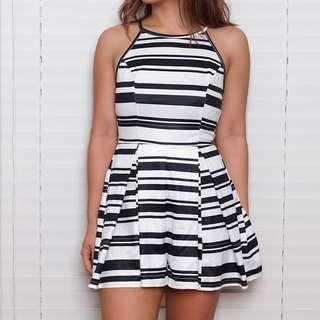 Dotti Black & White Romper