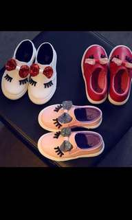 baby white bowknot glitter casual soft flat shoes kids