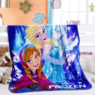 Cute 3D Cartoon Plush Soft Silky Flannel Blanket Throw Bedding Travel Blanket 1m x 1.4m