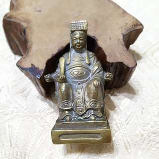 黃銅實心媽祖神像