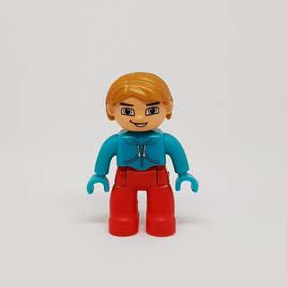 Lego Duplo- Like Articulated Toy Figure