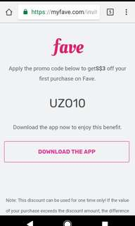 #blessing Fave APP promo code