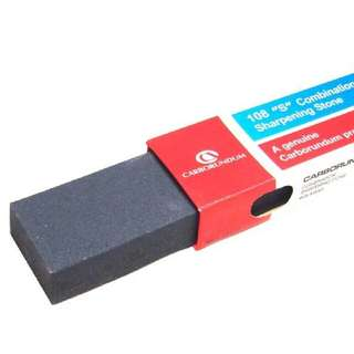 "Carborundum 108 ""S"" Combination Sharpening Stone 8 Inch"