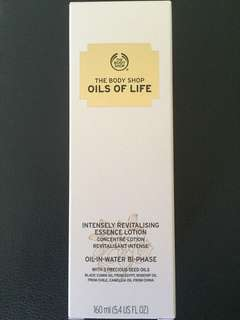 Brand New Oils Of Life Intensively Revitalising Essence Lotion 160ml From The Body Shop