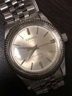 舊裝 70年代原裝 Citizen Super King 21 jewels 古典手表