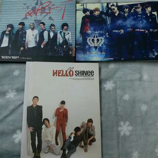 KPOP SHINEE AND TEEN TOP ALBUM