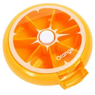 Portable Rotating Medicine Box (Orange)