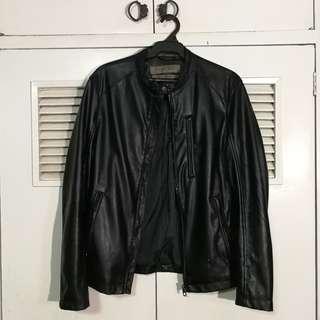 Zara Man Synthetic Leather Jacket