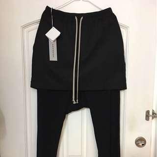 全新 RICK OWENS DRKSHDW 17S 裙長褲M碼(腰圍30-34)