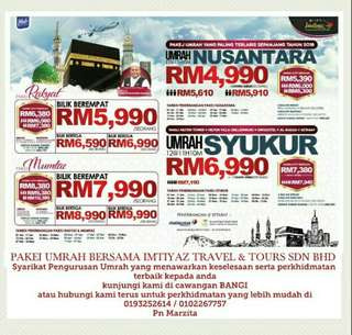 Pakej Umrah Imtiyaz travel & tours