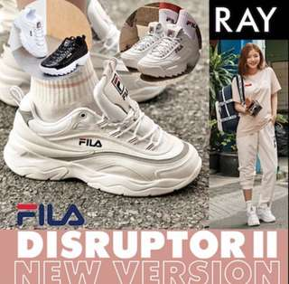 [Fila Disruptor II] NEW VERSION Authentic Original Heritage Ray