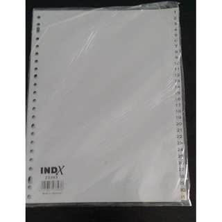 INDX GREY PLASTIC INDEX/DIVIDER 23393 - MADE IN GERMANY - 1 TO 31