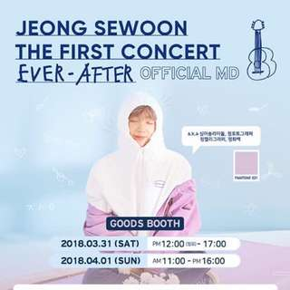 [Interest Check] Jeong Se Woon 1st Concert Ever - After Official MD Goods