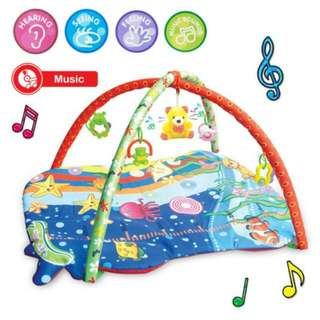 SALE FREE POS Ready Stock Musical Large Baby Play Soft Gym Mat Activity Ocean Toys Kids