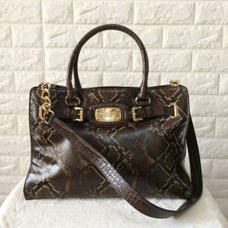 Authentic Michael Kors snake skin 2 way bag