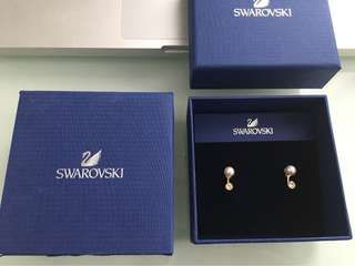 Swarovski Caress Pierced Earrings New in Box