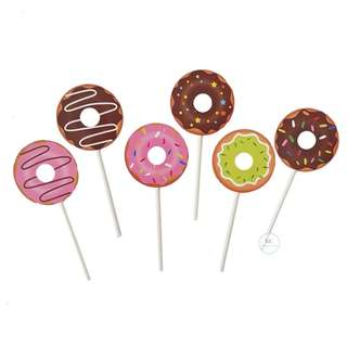 Donut cupcake topper set Birthday Party Children
