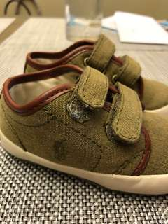 Auth Polo RL Baby Shoes US 4  13CM