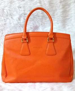 Nicole Miller Orange Handbag