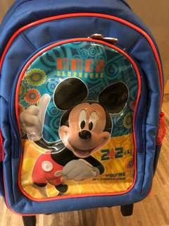 Mickey Mouse School Trolley Bag