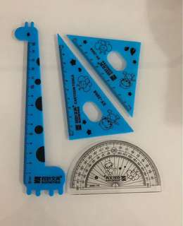 Colorful math ruler- ideal and practical goody bag, goodies bag gift