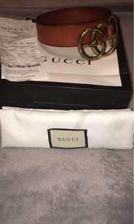 Snake buckle brown leather Gucci Belt