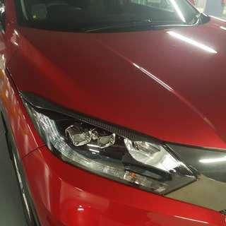 Honda Vezel/HRV AMS style eye lids (Carbon fibre)