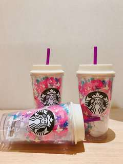 Starbucks 春天彩筒蝴蝶杯
