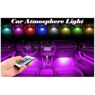 Plug and Play LED Legroom Atmosphere Light with Remote controlled colour change!
