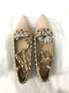 Valentino-inspired caged flats