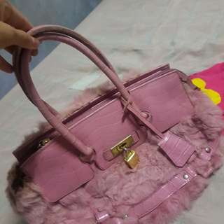 Fashion Pink Hermes Style Bag