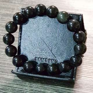 Black cat eye crystal bracelet