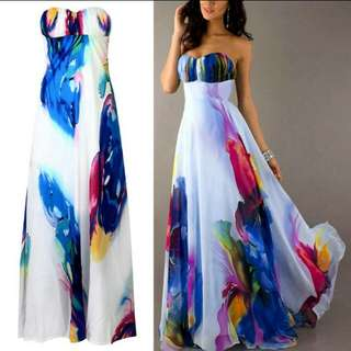 Long Watercolour Dress