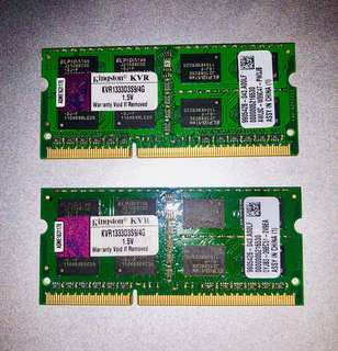MACBook upgrade Ram Kingston 8GB kit (2 x 4GB) DDR3-1333 Sodimm
